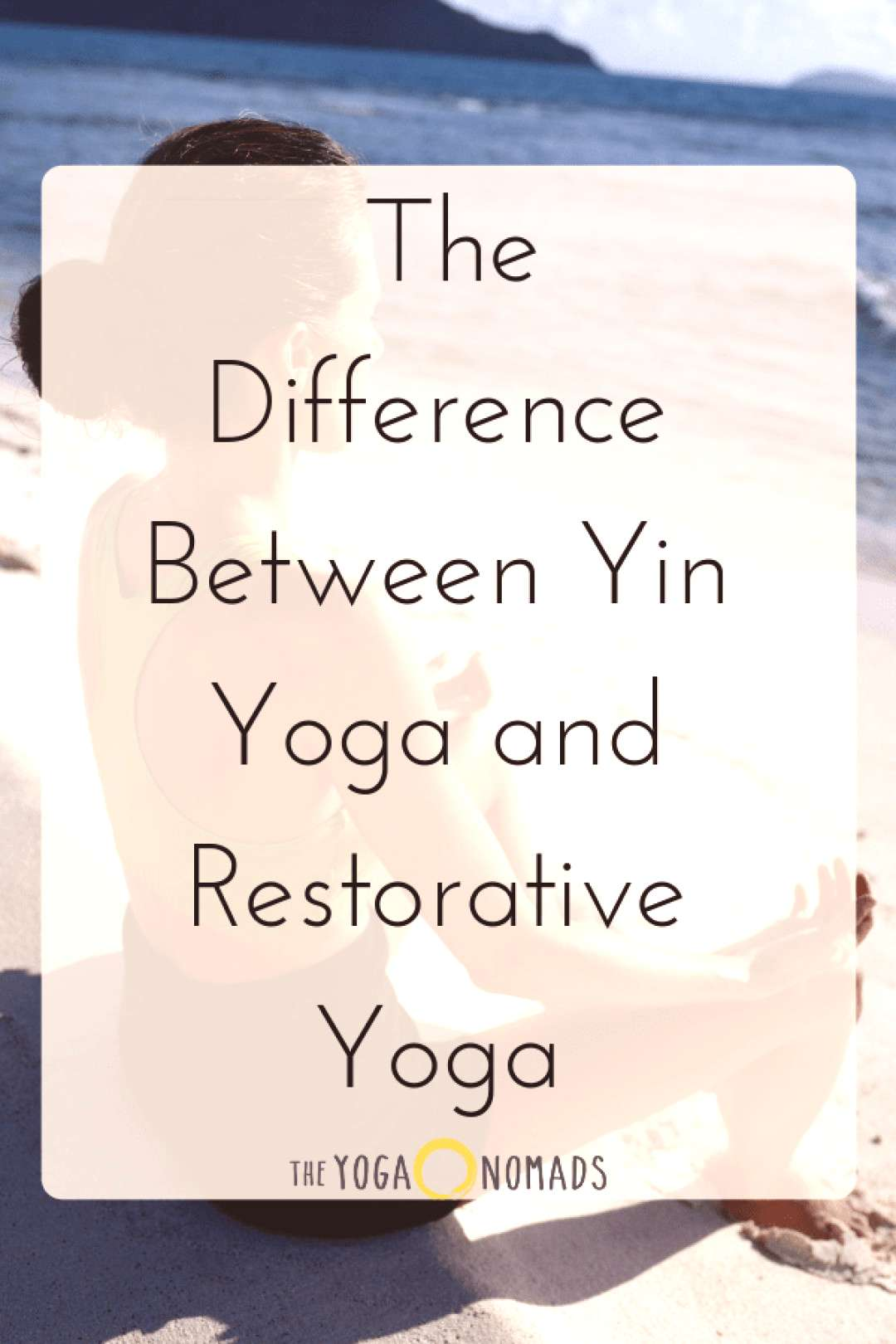 The Difference Between Yin Yoga and Restorative Yoga. People dont know that Yin Yoga and Restorati