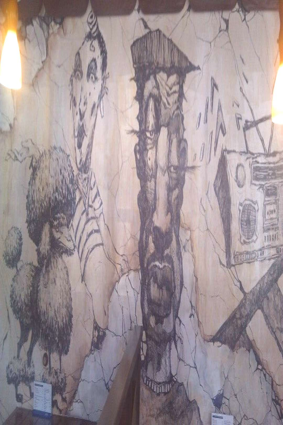 The gogi restaurants wall painting