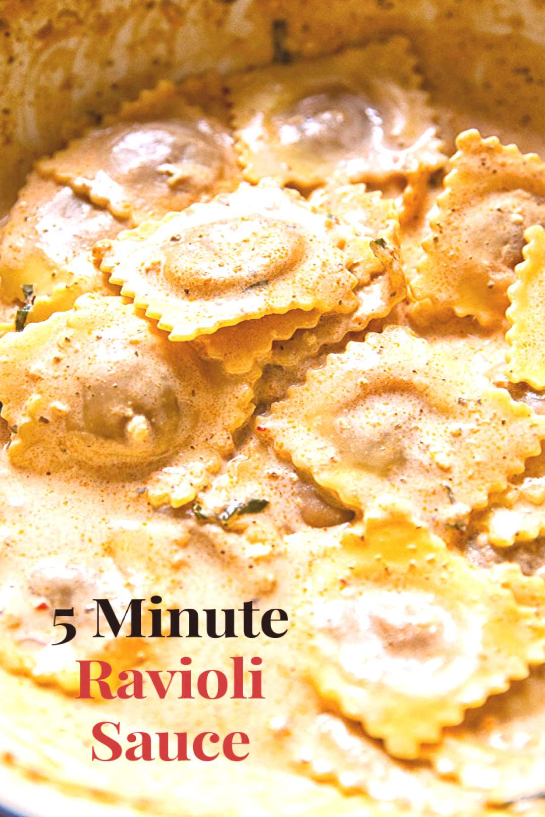 This 5 minute and 4 ingredient ravioli sauce will make you believe you are eating in the best of re