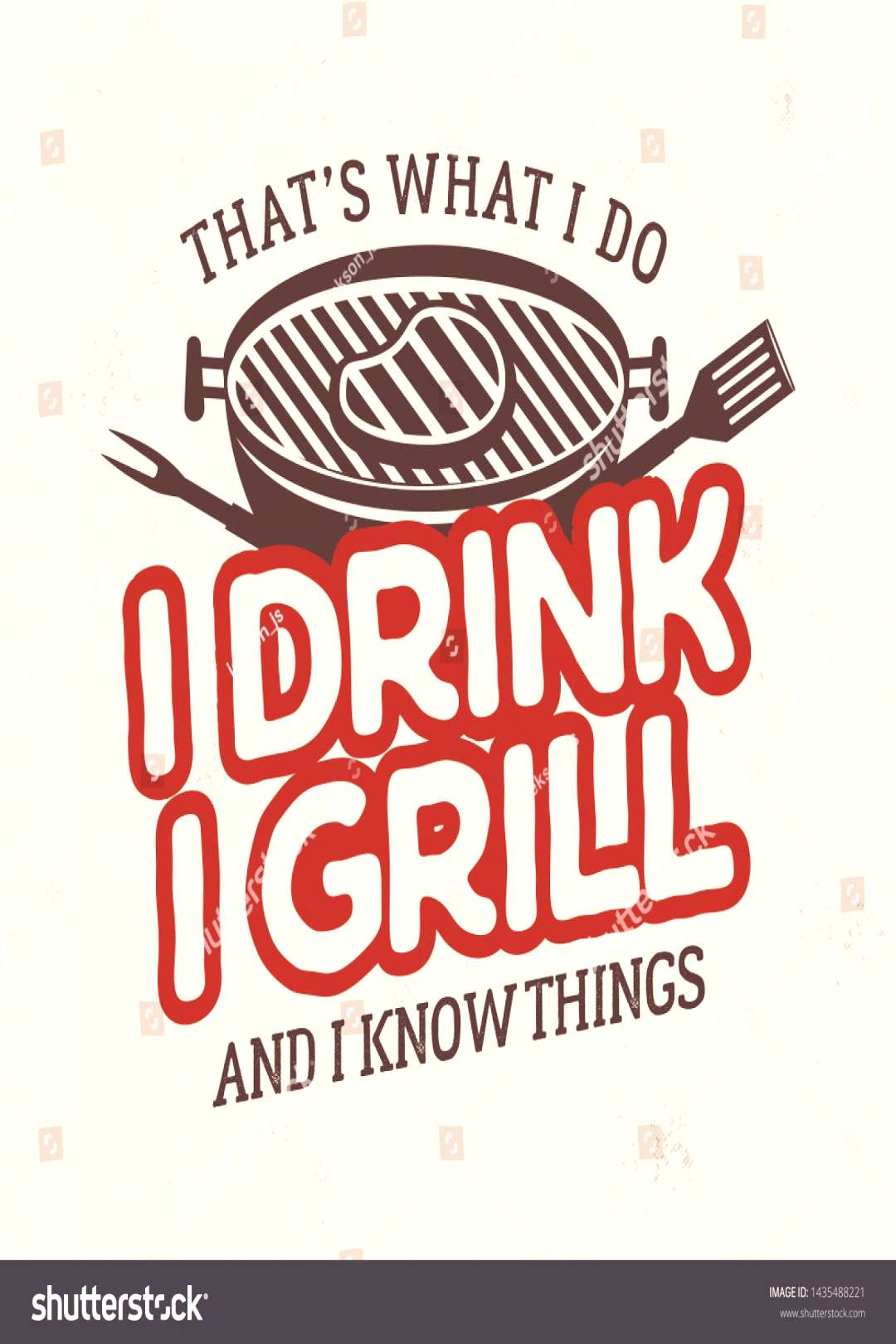 Vintage BBQ t shirt graphic design. Retro summer barbecue logo emblem with phrase - Thats what I do