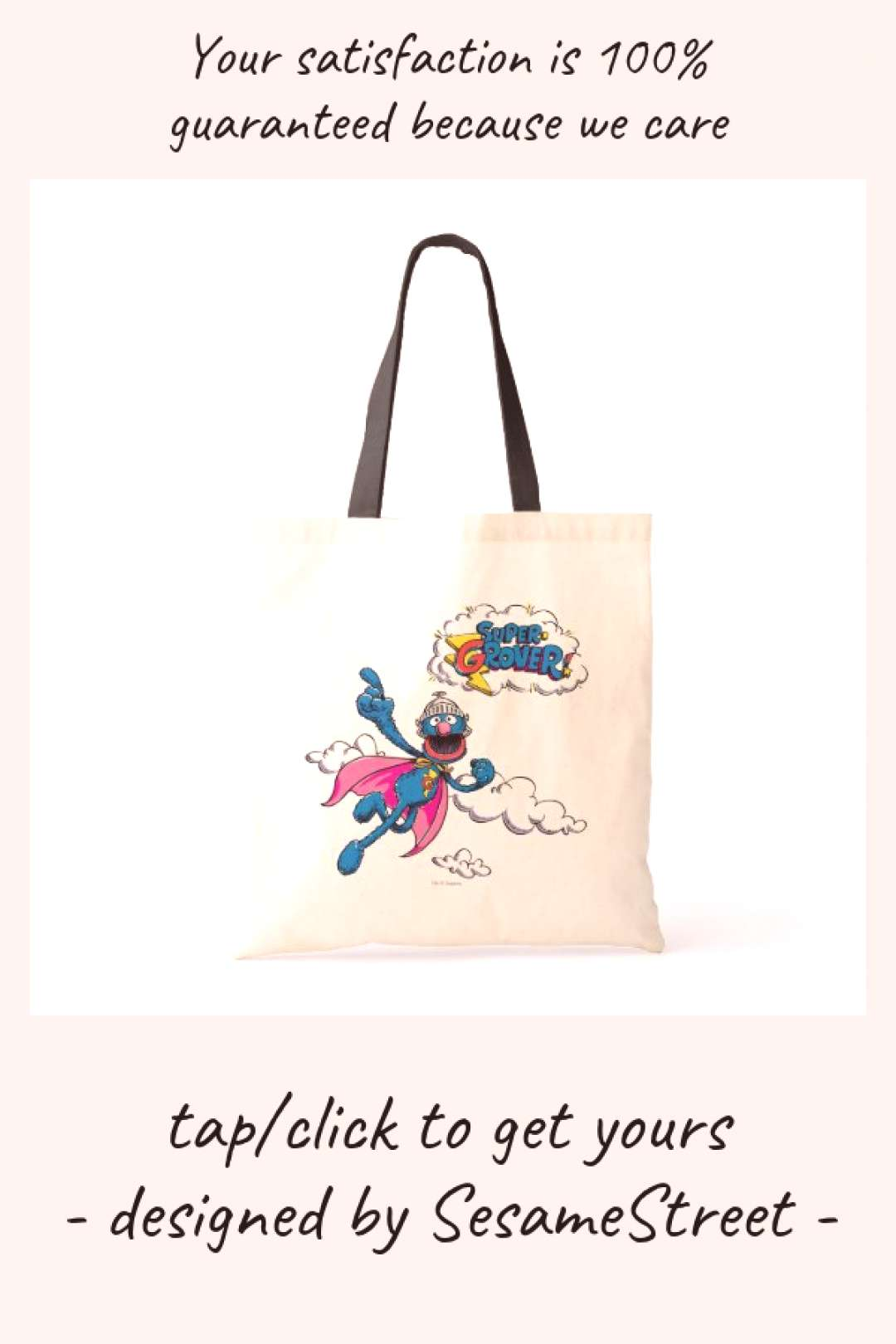 Vintage Super Grover Tote Bag