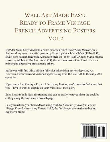 Wall Art Made Easy Ready to Frame Vintage French