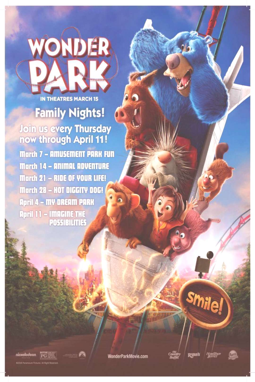 Wonder Park family nights at Ovation brand restaurants - Parenting In Progress .... Wonder Park fam